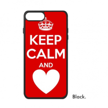 Quote Keep Calm And Love Red iPhone 8/8 Plus Cases iPhonecase  iPhone Cover Phone Case Gift