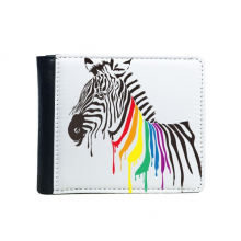 Pinto LGBT Rainbow Color Pattern Flip Bifold Faux Leather Wallet  Multi-Function Card Purse Gift