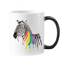 Pinto LGBT Rainbow Color Pattern Changing Color Mug Morphing Heat Sensitive Cup Gift With Handles 350 ml