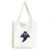 A Winged Halloween Ghost Canvas Bag Environmentally Tote Large Gift Capacity Shopping Bags