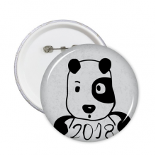 2018 New Year Adorable Cute Puppy Round Pins Badge Button Clothing Decoration Gift 5pcs