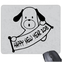 2018 Happy New Year Adorable Dog Rectangle Non-Slip Rubber Mousepad Game Mouse Pad Gift