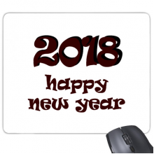 2018 Happy New Year Lovely Font Rectangle Non-Slip Rubber Mousepad Game Mouse Pad Gift