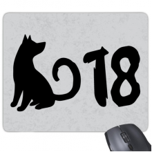 2018 Lovely Dog Happy New Year Rectangle Non-Slip Rubber Mousepad Game Mouse Pad Gift