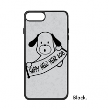 2018 Happy New Year Adorable Dog iPhone 7/7 Plus Cases iPhonecase  iPhone Cover Phone Case Gift