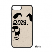 2018 Happy New Year Funny Big Dog iPhone 7/7 Plus Cases iPhonecase  iPhone Cover Phone Case Gift