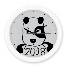 2018 New Year Adorable Cute Puppy Silent Non-ticking Round Wall Decorative Clock Battery-operated Clocks Gift Home Decal