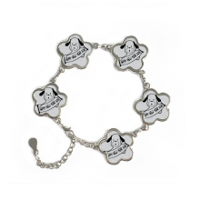 2018 Happy New Year Adorable Dog Flower Shape Metal Bracelet Chain Gifts Jewelry With Chain Decoration