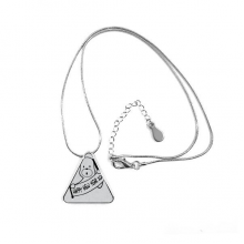 2018 Happy New Year Adorable Dog Triangle Shape Pendant Necklace Jewelry With Chain Decoration Gift