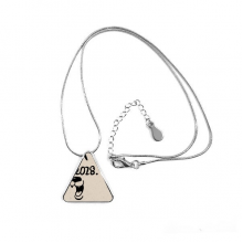 2018 Happy New Year Funny Big Dog Triangle Shape Pendant Necklace Jewelry With Chain Decoration Gift