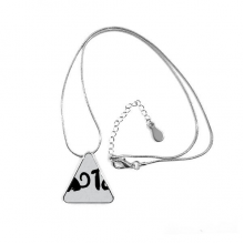 2018 Lovely Dog Happy New Year Triangle Shape Pendant Necklace Jewelry With Chain Decoration Gift