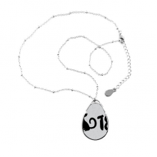 2018 Lovely Dog Happy New Year Teardrop Shape Pendant Necklace Jewelry With Chain Decoration Gift