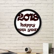2018 Happy New Year Lovely Font Round Picture Frame Art Prints of Paintings Home Wall Decal Gift