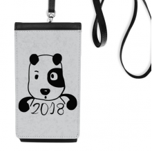 2018 New Year Adorable Cute Puppy Faux Leather Smartphone Hanging Purse Black Phone Wallet Gift