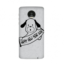 2018 Happy New Year Adorable Dog Moto Z / Z Force / Z2 Magnetic Mods Custom-made Phonecase DIY Moto Style Shell