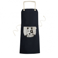 2018 New Year Adorable Cute Puppy Cooking Kitchen Black Bib Aprons With Pocket for Women Men Chef Gifts