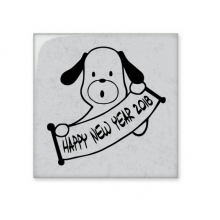 2018 Happy New Year Adorable Dog Ceramic Bisque Tiles Bathroom Decor Kitchen Ceramic Tiles Wall Tiles