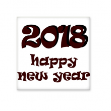 2018 Happy New Year Lovely Font Ceramic Bisque Tiles Bathroom Decor Kitchen Ceramic Tiles Wall Tiles