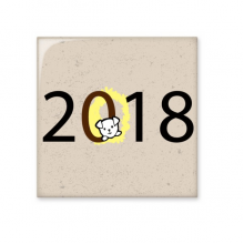 2018 Puppy Pattern Happy New Year Ceramic Bisque Tiles Bathroom Decor Kitchen Ceramic Tiles Wall Tiles