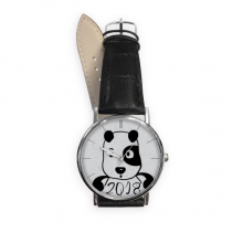 2018 New Year Adorable Cute Puppy Quartz Analog Wrist Business Casual Watch with Stainless Steel Case Gift