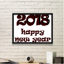 2018 Happy New Year Lovely Font Simple Picture Frame Art Prints Paintings Home Wall Decal Gift