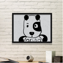 2018 New Year Adorable Cute Puppy Simple Picture Frame Art Prints Paintings Home Wall Decal Gift