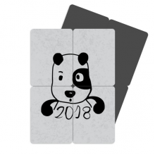 2018 New Year Adorable Cute Puppy Refrigerator Magnet Puzzle Home Decal Magnetic Stickers (set of 4)