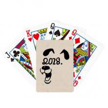 2018 Happy New Year Funny Big Dog Poker Playing Cards Tabletop Game Gift