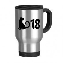 2018 Lovely Dog Happy New Year Stainless Steel Travel Mug Travel Mugs Gifts With Handles 13oz