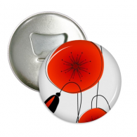 Abstract Flowers Painting Corn Poppy Round Bottle Opener Refrigerator Magnet Pins Badge Button Gift 3pcs