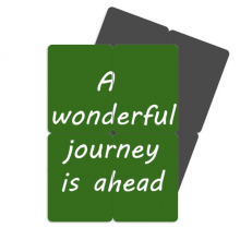 A Wenderful Journey Is Ahead Refrigerator Magnet Puzzle Home Decal Magnetic Stickers (set of 4)
