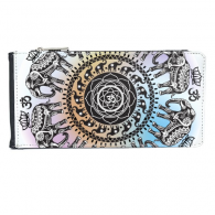 Animal Big Circle Elephant Multi-Card Faux Leather Rectangle Wallet Card Purse Gift