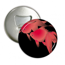 Painting Japanese Culture Fish Round Bottle Opener Refrigerator Magnet Pins Badge Button Gift 3pcs