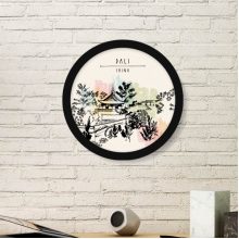 A Quiet Pagoda Dali of China Round Picture Frame Art Prints of Paintings Home Wall Decal Gift