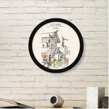 A Busy Street in Lijiang of China Round Picture Frame Art Prints of Paintings Home Wall Decal Gift