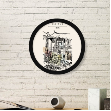 A Cute Alley in Dali of China Round Picture Frame Art Prints of Paintings Home Wall Decal Gift