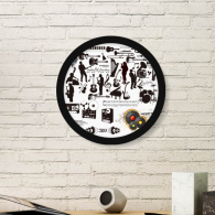 Rock Music Festival Crazy Pattern Round Picture Frame Art Prints of Paintings Home Wall Decal Gift