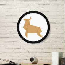 Abstract Christmas Deer Origami Pattern Art Painting Picture Photo Wooden Round Frame Home Wall Decor Gift