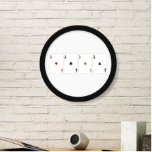 A Heart Spade Diamond Club Pattern Art Painting Picture Photo Wooden Round Frame Home Wall Decor Gift