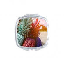Fresh Early Morning Pineapple Fruit Square Compact Makeup Mirror Portable Cute Hand Pocket Mirrors Gift