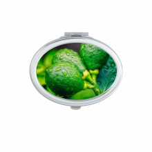 Fresh Fruits Lemon Picture Photography Oval Compact Makeup Mirror Portable Cute Hand Pocket Mirrors Gift