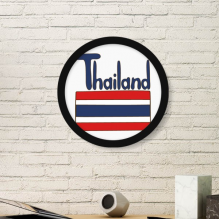 Thailand National Flag Red Blue Pattern Art Painting Picture Photo Wooden Round Frame Home Wall Decor Gift