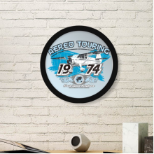 1974 Plane Aereo Touring Pattern Art Painting Picture Photo Wooden Round Frame Home Wall Decor Gift
