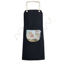 Monkey Organism  Animal Photography Cooking Kitchen Black Adjustable Bib Apron Pocket Women Men Chef Gift