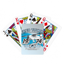 1974 Plane Aereo Touring Pattern Poker Playing Card Tabletop Board Game Gift