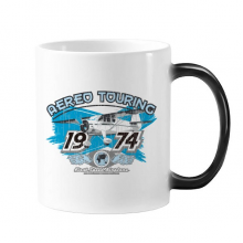 1974 Plane Aereo Touring Pattern Changing Color Mug Morphing Heat Sensitive Cup Gift With Handles 350 ml