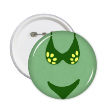 Green Sexy Swimsuit Set Illustration Round Pins Badge Button Clothing Decoration 5pcs Gift