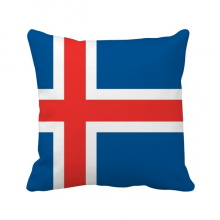 Iceland National Flag Europe Country Throw Pillow Square Cover