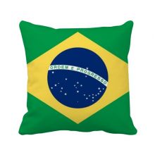 Brazil National Flag South America Country Throw Pillow Square Cover