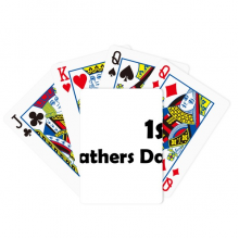 1st Father's Day Festival Quote Poker Playing Card Tabletop Board Game Gift